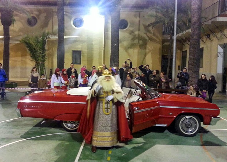 Arribada dels Reis Mags d'Orient a l'escola